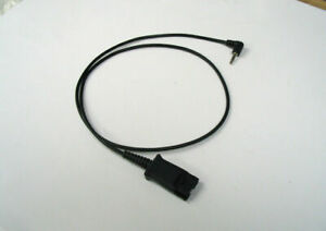 New Plantronics 2.5mm to QD Cable for Cisco Phones - P/N 64279-02