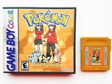 Pokemon Bronze Version - Game / Case Gameboy Color (GBC GBA) Fan Made USA Seller