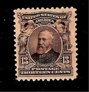 US 1903 Sc # 308  13 c  William Harrison - Mint HH - Crisp  Color - Centered