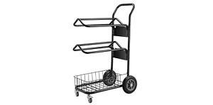 Heavy Duty Multi Level Portable Wheeled Saddle Rack Hanger English/Western