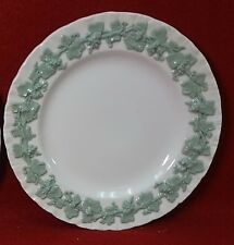 """WEDGWOOD china QUEENSWARE Celadon on Cream Shelledge Bread Plate - 6-1/4"""""""