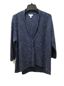 """Charter Club Open From knitted cardigan SZ P/L Back Center Length 27-1/2"""""""