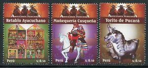 Peru 2009 Volkskunst Brauchtum Folklore Altar Pferd 2391-2393 Postfrisch MNH