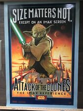 "STAR WARS ATTACK OF THE CLONES EPISODE II ORIGINAL ""SIZE MATTERS NOT"" IMAX"