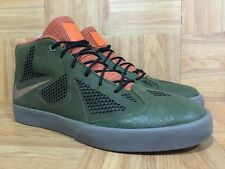 RARE🔥 Nike LeBron x NSW Lifestyle Dark Loden Brown Leather Gum Sz 12 604826-300