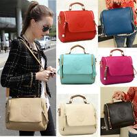 Women Ladies Book Bag Handbag Leather Shoulder Tote Satchel messenger Cross Body