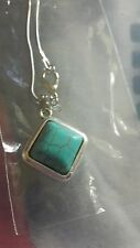 turquoise marquise tibetan silver shaped pendant necklace.