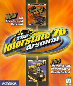 Interstate '76 Arsenal PC Game 1998 Nitro Pack Included