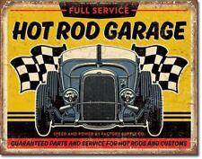 Hot Rod Garage 32 Rat Rod Tin Metal Vtg Sign Picture Auto Shop Cave Bar Decor