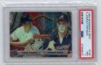 1994Bowman's Best Chipper Jones & Travis Fryman Graded PSA 7 Baseball Card
