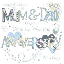 Mum & Dad Diamond 60th Wedding Anniversary Greeting Card By Talking Pictures Car