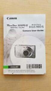Canon Powershot SD970 IS Manual/Guide