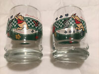 Winnie the Pooh Hundred Acre Wood Drinking Glass 8oz Set Of 2, Used