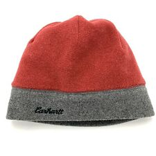 CARHARTT Reversible Grey and Red Fleece Winter Beanie