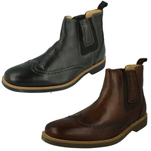 SALE Mens Anatomic & Co Pull On Chelsea Leather Ankle Boots GUSTAVO 565684