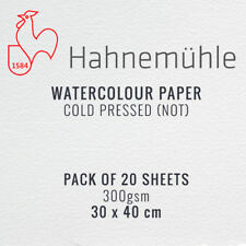 Hahnemuhle Watercolour Painting Paper Pack of 20 Sheets - 30 x 40 cm, 300gsm