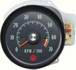 1970 Chevrolet Chevelle SS/Monte Carlo Tachometer w/6500 RPM Redline