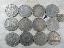 12 X alte Münze China ~1970 Nickel Gedenkmünzen Dollar Pferd Yin & Yang Drachen