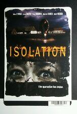 ISOLATION LYNCH DAVIS HARRIS IURES NEGGA MINI POSTER BACKER CARD (NOT a movie )