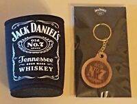 Jack Daniel's Whiskey Old No. 7 Brand Stubby Can Holder Cooler & Keychain