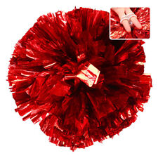 Handheld Pom Poms Cheerleader Cheerleading Dance Party Football Victory Come on Red