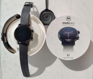 Moto 360 Smartwatch with Wear OS (Gen 3, Phantom Black) Mint Condition