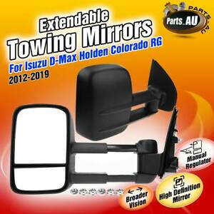 2x Extendable Towing Mirrors  for Isuzu D-Max Holden Colorado RG w/o Indicators