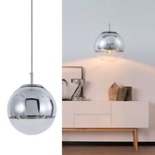 Mzithern Modern Globe Pendant Light, Polished Chrome Finish, 10in