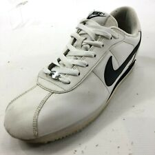 NIKE Cortez Men's 12 White Leather Sneakers Lace Up