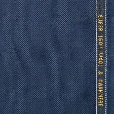 Navy Blue Birdseye Super 160's Wool & Cashmere Suiting  - 3.50 Metres