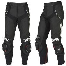 Pantalons noirs en résistant à l'eau en cuir pour motocyclette
