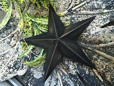 "ONE (1) 8""~ DISTRESSED ~ BLACK BARN STAR PRIMITIVE RUSTIC COUNTRY ANTIQUE DECOR"