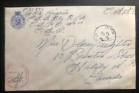 1943 Canadian Army Post Office CAPO 10 Goose Bay Censored cover To Halifax