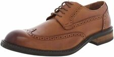 Vionic Bowery Bruno Mens Dark Tan Leather & Suede with Rubber Sole Shoe 9.5 M US