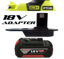 Bosch Battery Adapter to Ryobi 18v One+ Works with Ryobi 18v One+ Tools