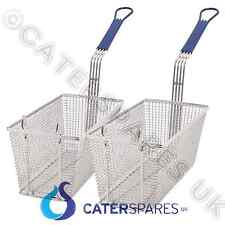 2 X UNIVERSAL CHIP FRYER BASKET TWIN SET PITCO IMPERIAL ELITE FRYMASTER MODEL