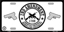 Aluminum License Plate 2nd Amendment America's Original Homeland Security NEW