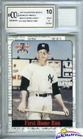1997 Scoreboard #39 Mickey Mantle WORN YANKEES JERSEY Beckett 10 MINT GGUM