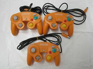 J915 Nintendo GameCube Controller Orange x3 Japan GC x