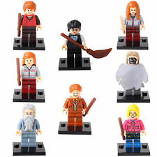 Harry Potter Hermione Dumbledore Death Eater Ron 8 Minifigures Building Toy