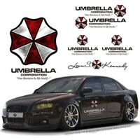 2× car auto sticker decal Umbrella Corp. Resident Evil Door Reflective Vinyl New