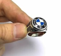 Sterling 925 Silver Cars Lego BMW Men's Ring - Handmade Jewelry