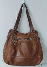 Fossil Brown Leather Satchel Handba