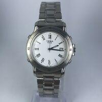 Yema Paris Mens YE264 Silver Tone Stainless Steel Band Date Indicator Watch