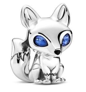 PANDORA Genuine Blue-Eyed Fox Charm 799096C01 S925 ALE Sterling Silver