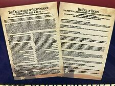 2  Lrg Posters-Bill of Rights& Declaration of Independence ~Home School~ Decor