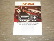 Pioneer KP-250 Car Stereo  Cassette tape with Radio Original Catalogue