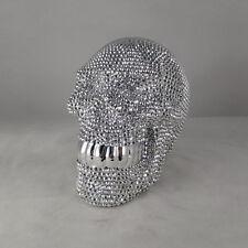 Diamante Ornamental Large Silver Skull