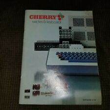 Vintage CHERRY SWITCHES & KEYBOARDS - 1974 Product Catalog - 71 pages  -FreeSHIP
