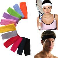 JN_ Women Men Sports Sweatband Headband Yoga Gym Stretch Basketball Hair Band